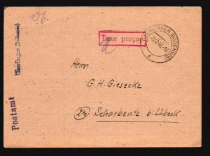 Germany 1946 TAXE PERCUE Stampless Card (VII) - Z14763