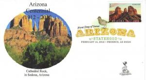 Arizona Centennial First Day Cover, w/ DCP cancel
