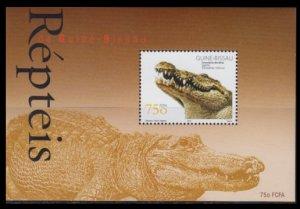 2002 Guinea-Bissau 2032/B381 Reptiles / Crocodiles 5,00 €