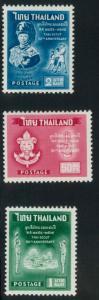 Thailand 370-372 Mint VF H