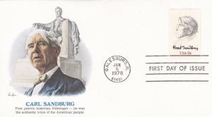 United States 1978 Honouring Carl Sandburg FDC Mint