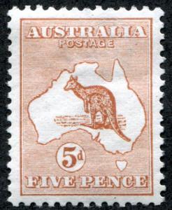 Australia 7 Mint VF LH 5p Kangaroo