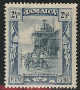 Jamaica Scott 92 MH* wmk 4 1921 stamp