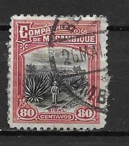 Mozambique Company 141 80c Saisal Plantation single Used