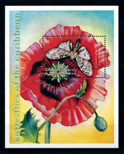 [98801] Grenada Grenadines 2000 Insect Butterfly Flower Souvenir Sheet MNH