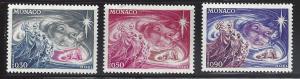 Monaco 849-851 Christmas 1972 MNH