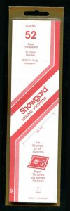 CLEAR Showgard Strip Mounts Size 52 = 52mm Fresh New Stock Unopened CLEAR