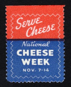REKLAMEMARKE NATIONAL CHEESE WEEK POSTER STAMP KRAFT SERVE CHEESE