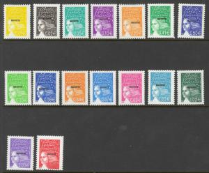 Mayotte Sc# 159-174 MNH 2002 Overprinted France