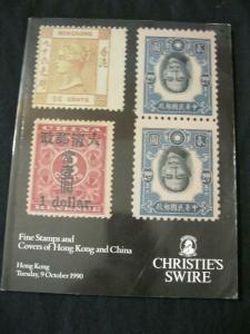CHRISTIES SWIRE AUCTION CATALOGUE 1990 HONG KONG  CHINA STAMPS  POSTAL HISTORY