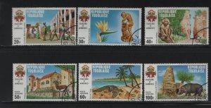 TOGO, 782-784,C156-C158 (6) set, Used, 1971 Tourist Publicity