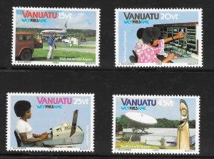 Vanuatu 360-3 World Communications Year VF MNH