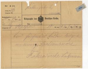 ALSACE - ca.1910 - Telegramme  - ALTMÜNSTEROL (MONTREUX-VIEUX) +timbre (a)