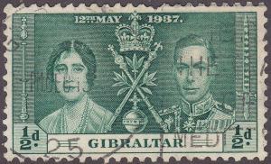 Gibraltar 104 USED 1937 Coronation Issue
