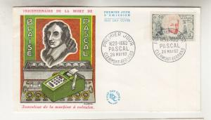 FRANCE, 1962 Pascal 50c., Illustrated unaddressed First day cover.