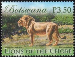 Botswana 953 - Used - 3.50p Male Lion Facing Left (2014) (cv $0.85)