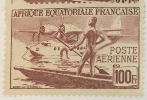 French Equatorial Africa #C23M MNH CV$1.60 Vichy Hydroplane