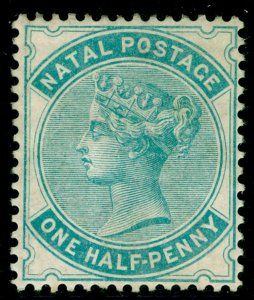 SOUTH AFRICA - Natal SG97, ½d blue-green, M MINT. Cat £100. WMK CA