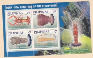 Philippines: Sc #3237, MNH, S/S, Lobsters (S18905)