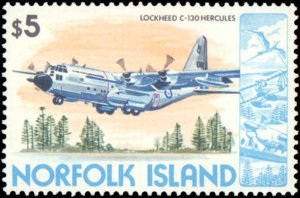 Norfolk Islands #256-270, Complete Set(16), 1980-1981, Airplanes, Never Hinged