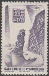 St Pierre & Miquelon #325 F-VF Unused (SU95)