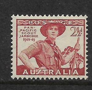 AUSTRALIA, 216 ,MINT HINGED,SCOUT