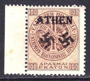 GREECE 100L ATHEN OVERPRINT OG NH U/M F/VF BEAUTIFUL GUM