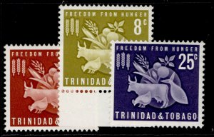 TRINIDAD & TOBAGO QEII SG305-307, complete set, VLH MINT.