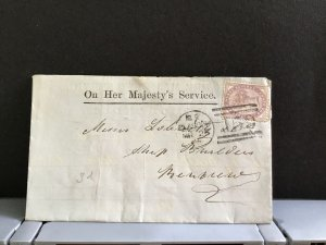 U.K Glasgow 1864 Official Memorándum    stamps cover R31276