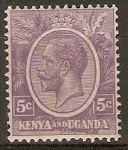 Kenya Uganda 1927 Scott 20 King George V MLH gum crease
