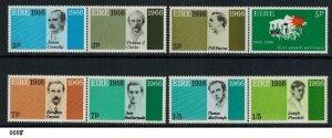 Ireland EIRE 1966 Scott #206-213 Pairs Anniversary of Easter Uprising Mint NH
