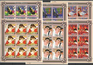KV178 IMPERFORATE 2001 MOZAMBIQUE NEW ART PAINTINGS HENRI MATISSE !!! 9SET MNH