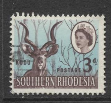 Southern Rhodesia- Scott 98 - QEII Definitives -1964 - Used- Single 3d Stamp