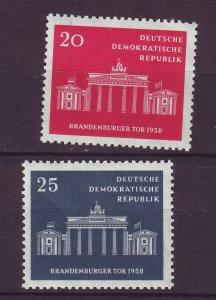 J24156 JLstamps 1958 germany DDR set mnh #410-11 berlin