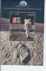 2019 Angola Moon Landing II SS (Scott NA) MNH