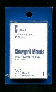 Showgard Black Stamp Mounts C 50/31 PreCut  (40 count)