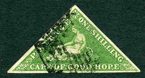 COGH SG8 1/-Bright Yellow-Green PB Printing (tiny tear at right) Cat 300 pounds