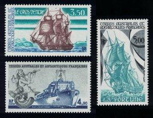 FSAT TAAF Ships 3v SG#237-239