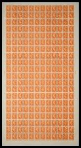 Sg 503 ½d Orange Complete Sheet Cyl 151 No Dot UNMOUNTED MINT
