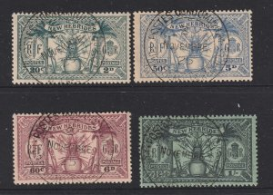 New Hebrides (British) x 4 earlies used