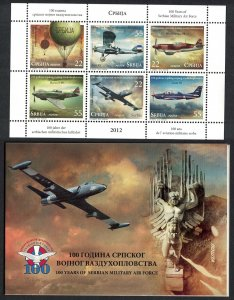 Serbia Centenary of Serbian Military Air Force Booklet SG#585-590