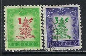 CUBA 498-99 VFU CHRISTMAS Z7797
