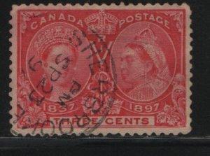 Canada, 53, USED, 1897 Queen Victoria 1837 & 1897