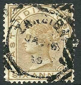 Zanzibar SGZ60 6a Pale Brown Z5 Squared Circle dated 5th Jan 1889