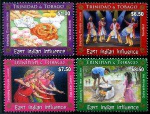 2020 Trinidad & Tobago Arrival of East Indians  (4)  (Scott NA) MNH