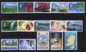 Grenada 215-29 MNH Fruit, Ships, Map, Queen Elizabeth, Architecture