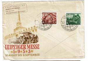 Germany DDR 1953 Leipzig FDC - Lot 100817