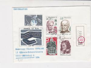France 1980 Etrechy Cancels Registered Mixed Subject Multi Stamps Cover Rf 29856