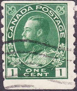 CANADA 1911 KGV 1 cents Blue Green Imperf x 8 SG220 Fine Used