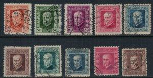 Czechoslovakia #95-101,3,6,8  CV $3.10